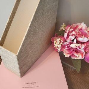 kate spade Office - Kate Spade Grass Cloth Magazine Holder